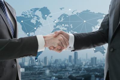 businessman shaking hand
